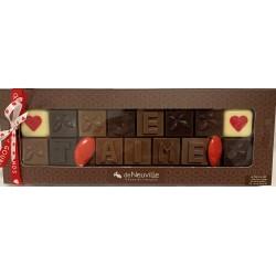 "Message chocolat - ""Je T'aime"""
