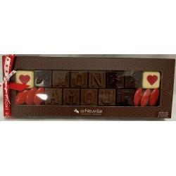 "Message chocolat ""Mon Amour"""