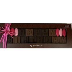 "Message chocolat - ""Happy Birthday"""