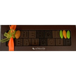 "Message chocolat - ""Merci Beaucoup"""