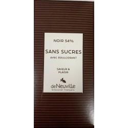 Tablette Chocolat Noir 54% Sans Sucre