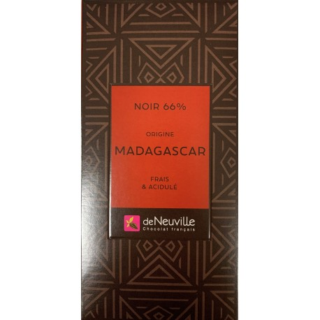 Tablette Chocolat Noir 66% Origine MADAGASCAR