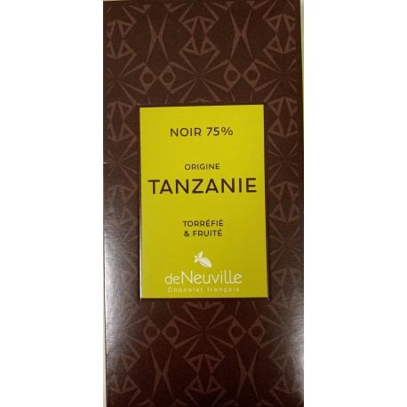 Tablette Chocolat Noir 75% origine TANZANIE